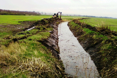 Nagyjáksóréri belvízcsatorna rekonstrukciója